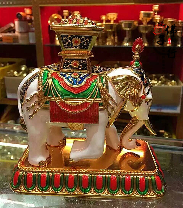 Tantric Buddhism supplies painted elephant Treasure seven round Treasure King Jia produced exquisite colorful elephant treasureTantric Buddhism supplies painted elephant Treasure seven round Treasure King Jia produced exquisite colorful elephant treasure