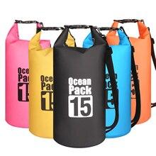 15L Водонепроницаемая водонепроницаемая сумка мешок мешочки для хранения продуктов плавания на открытом воздухе каякинга каноэ речной поход лодок