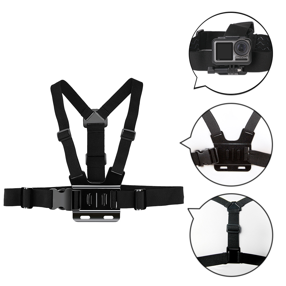Gopro Accessories Belt Harness Chest Strap Body Mount For GoPro Hero 7 6 5 4 3 Xiaomi YI SJ4000 OSMO Action Camera Accessories