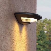4W LED Outdoor Wall Mounted Lights / Durable Casting Aluminum Housing in UFO Shape / Warm White Beam