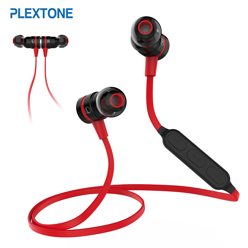 PLEXTONE BX335 Wireless Bluetooth Earphone In-Ear Magnetic Switch Headset Sport Sweatproof Stereo Earbud With Mic For iPhone MP3 bluetooth earphone mini wireless stereo earbud 6 hours playtime bluetooth headset with mic for iphone and android devices