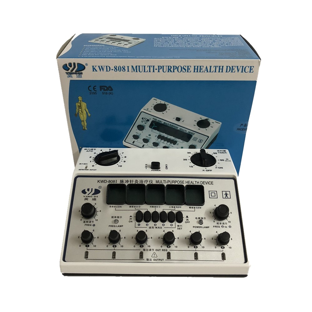 Electro Acupuncture Stimulator KWD-808-I 6 Channels Output Electronic Stimulation needle-less acupuncture-pulse electric therapy
