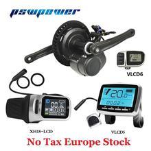 أوروبا الأسهم Tongsheng 36 فولت 250 واط/350 واط TSDZ2 VLCD5 XH 18 VLCD6 LCD دراجة كهربائية منتصف المحرك المركزي مع مستشعر شدة العزم