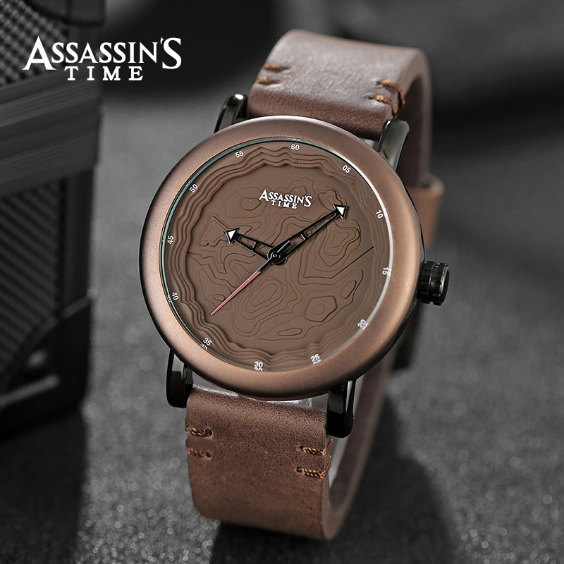 Assassin's Time Leather Band Watch meeste top brändi luksuslik - Meeste käekellad - Foto 6