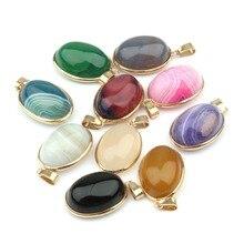 Натуральный камень полосатые Агаты Подвески камень DIY для изготовления ювелирных изделий ожерелья 3,7*2*1,2 см