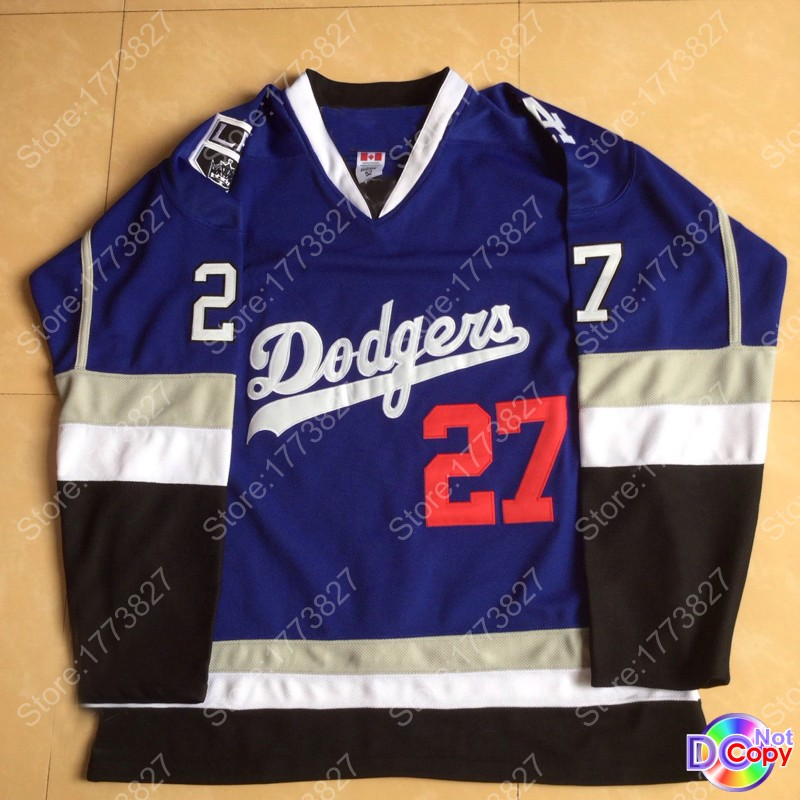 100% authentic 734cc 09566 los angeles dodgers hockey jersey