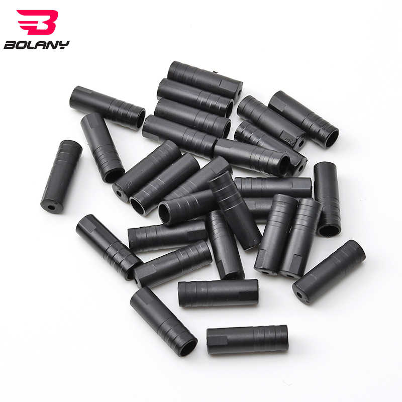 100X 4mm Bike Bicycle Cycling Brake Cable Crimps Housing Plastic End Tips Cap/_AE