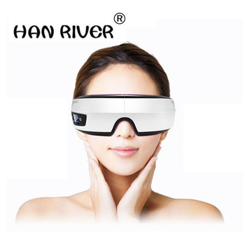 Electric Air pressure Eye massager with mp3 functions.Wireless vibration eye magnetic far-infrared heating.Usb eye care glasses