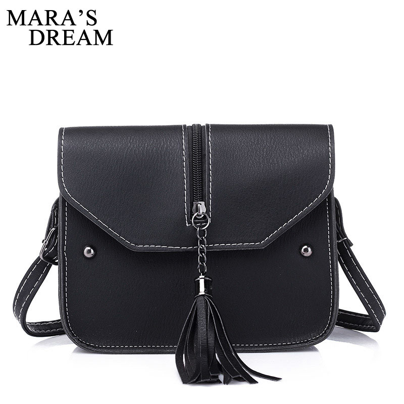Mara's Drea Brand 2018 New Vintage Casual PU Leather Women Handbags Ladies Small Shopping Bag Shoulder Messenger Crossbody Bags vintage punk tassel shoulder bags pu leather handbags women messenger bag casual tote bag small crossbody bags