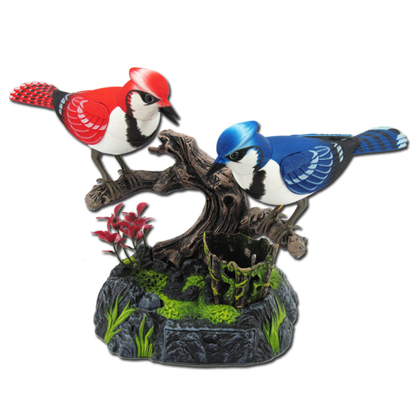 Voice Control Bird Toys Simulation Musical Parrot Electric Bird Model Bird Call Voice Of The Natural Forest Sound Birdcall