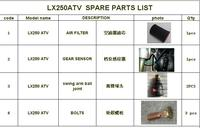 GEAR SENSOR/AIR FILTER//BOLTS/SWING ARM BALL JOINTS FOR LONCIN 250CC ATV