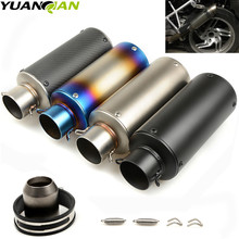 motorcycle exhaust universal muffler 51mm/61mm exhaust stainless steel with for Z900 GSXR1000R K8 zx6r MT09 R6 R1 KTM RC390 motorcycle exhaust muffler for gp exhaust mufflers carbon fiber exhaust pipe for zx6r z900 rc390 r6 r3 gsxr750 sv650 ninja250r