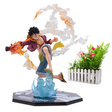 Anime One Piece Luffy Boa Hancock PVC Action Figure Battle Ver Great Collectible Model Christmas Gift Toy For Children statue one piece seven warlords of the sea boa hancock bust pirates female emperor gk action figure collectible model toy d720