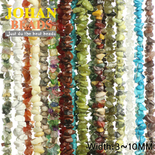 JHNBY Natural Stone White crystal,Red coral,Aventurine Irregular Gravel beads 31''strand Jewelry bracelet accessories making DIY
