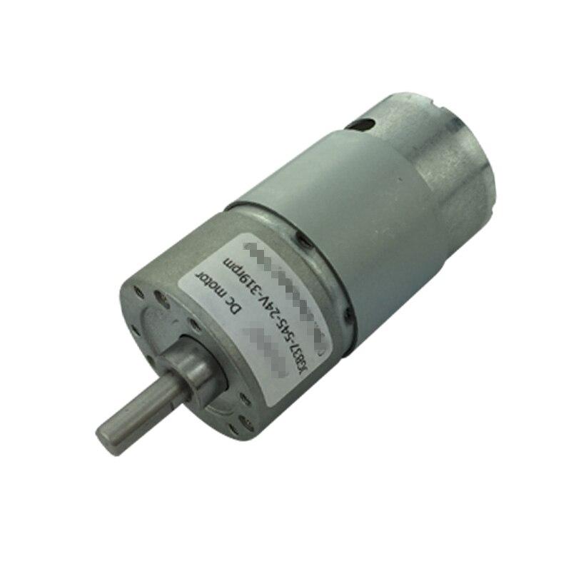 12-36V 24V Voltage 15W Speed Reduction High Torque Electric DC Geared Motor JGB37-545 960/600/319/200/107/66/45/35/22/12/7rpm 30a esc welding plug brushless electric speed control 4v 16v voltage