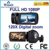 24MP 10X оптический зум 120X цифровой зум супер Цифровая видеокамера профессиональная камера с беспроводным пультом дистанционного управления