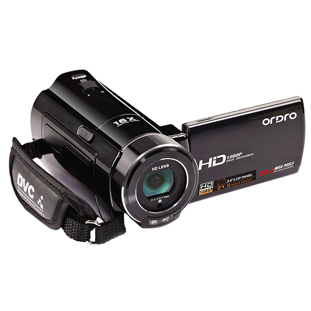 buy ordro hdv v7 mini camcorder 1080p full hd 24 mp cmos digital video camera with 3 0. Black Bedroom Furniture Sets. Home Design Ideas