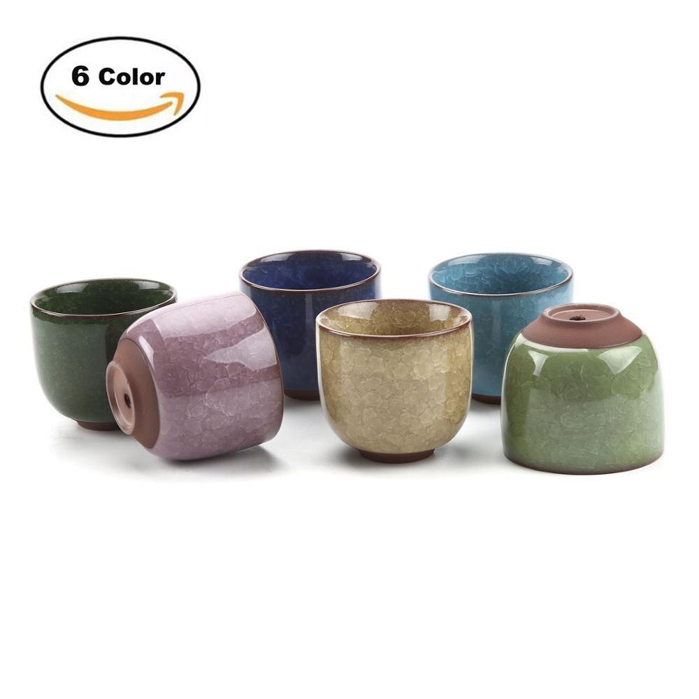 T4U 2.5 Inch Ceramic Ice Crack Zisha Raised Serial Succulent Planter Plant Pot Cactus Plant Pot Flower Pot Container