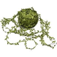 10 метров зеленые Золотые листья из ротанга шелковые Искусственные