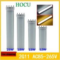 Good Quality High Lumen AC85 265V LED Tube Light 2G11 Lamp 12w 15w 18w 25W Smd