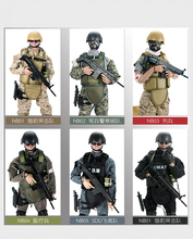 PATTIZ 1/6 12 SWAT Action Figure Model toys Military Army Combat Game Toys boys birthday  Free shipping