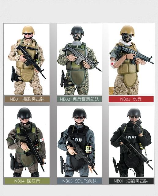 PATTIZ 1/6 12 SWAT Action Figure Model toys Military Army Combat Game Toys boys birthday  Free shipping