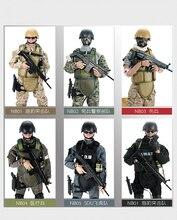 PATTIZ 1/6 12 SWAT Action Figure giocattoli di Modello Militare Dellesercito di Combattimento Gioco Giocattoli di compleanno dei ragazzi di trasporto libero