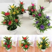 Artificial falso flor de lótus vaso planta bonsai festa de casamento jardim decoração de casa plantas artificiais falso planta weddinghome decoração
