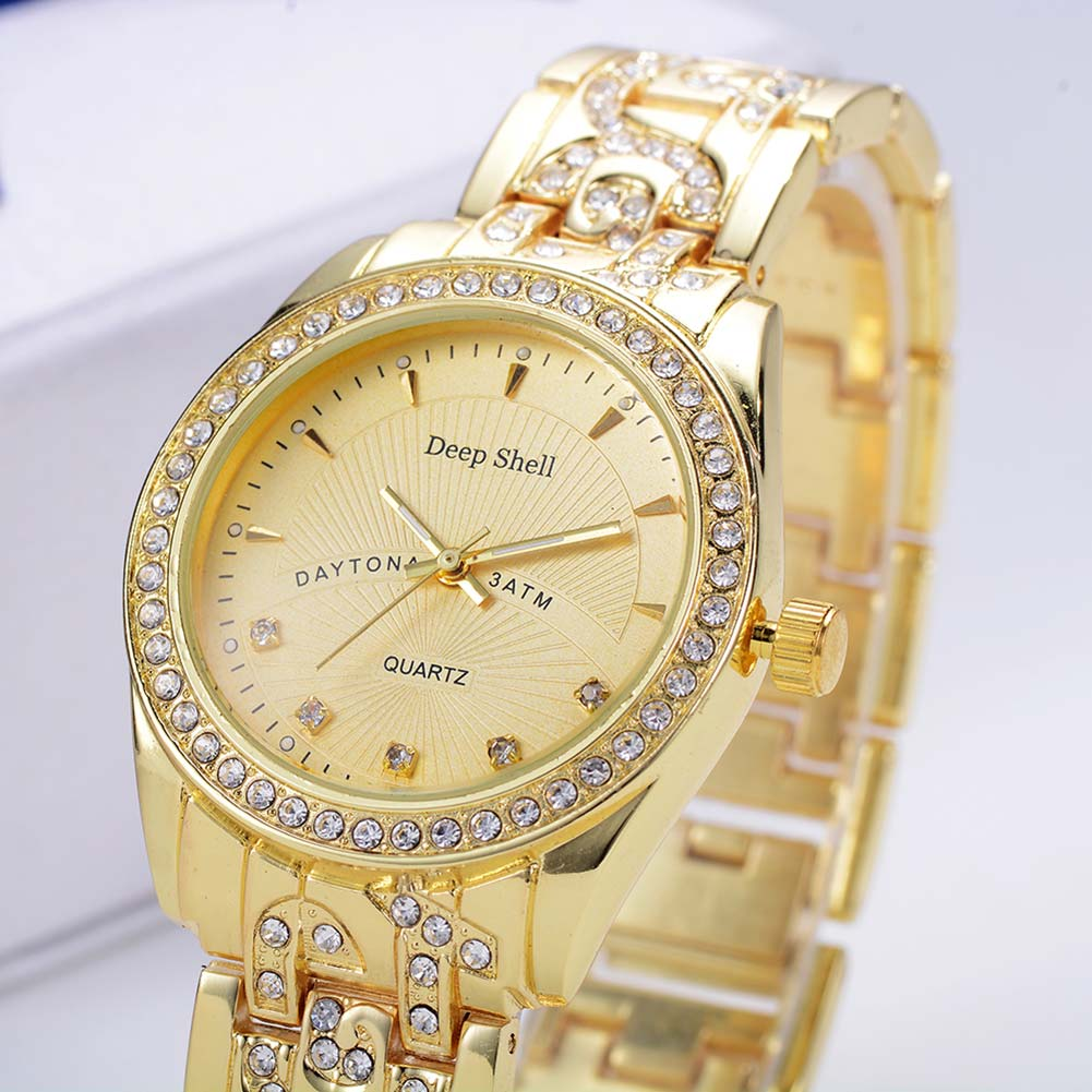 Casual Simple And Elegant Steel Band  Watch Quartz Bracelet Watch DP026 Christmas Gifts Quartz Movement Gold LL friendship gifts birthday gifts fw819e rose gold band white dial ladies elegant alexis brand crystal bracelet watch gifts box