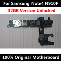 Original Official Phone Motherboard For Samsung Note 4 N910F 32GB Unlocked With Chips IMEI OS Whole Mainboard Worldwide Use