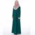 Venda quente cor Sólida 2016 Moda Adulto Muçulmano Kaftan Abaya Abayas Islâmico Turco A Nova Senhora Longo-Vestido de mangas compridas W494