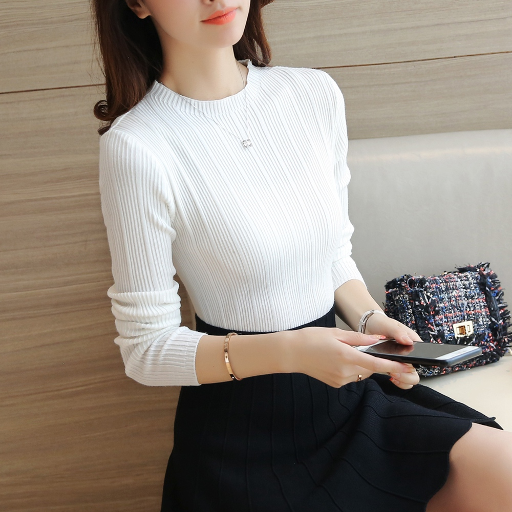 Sexy Slim Autmn Winter Pullover Women Sweaters O Neck Long Sleeve Knitting Chandail Femme Sueter Mujer Comfortable Knitwear