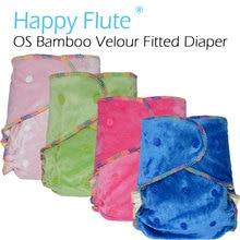 Happyflute os бамбука велюр оборудованная ткань пеленки ai2, onesize, не Синтетический Материал, на Ощупь кожу ребенка, от Рождения до Горшок/5-15 кг,