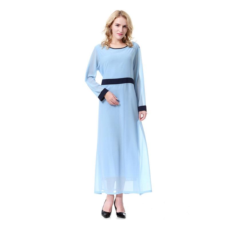 2018 Elegant Chiffon islamic Dress For Women Ramadan Abaya Arab Turkey Dibai Middle kaftan muslim Long Hijaber Desses Eid