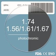 1,56 1,61 1,67 1,74 фотохромные серый объектив рецепт близорукости дальнозоркости асферических смолы