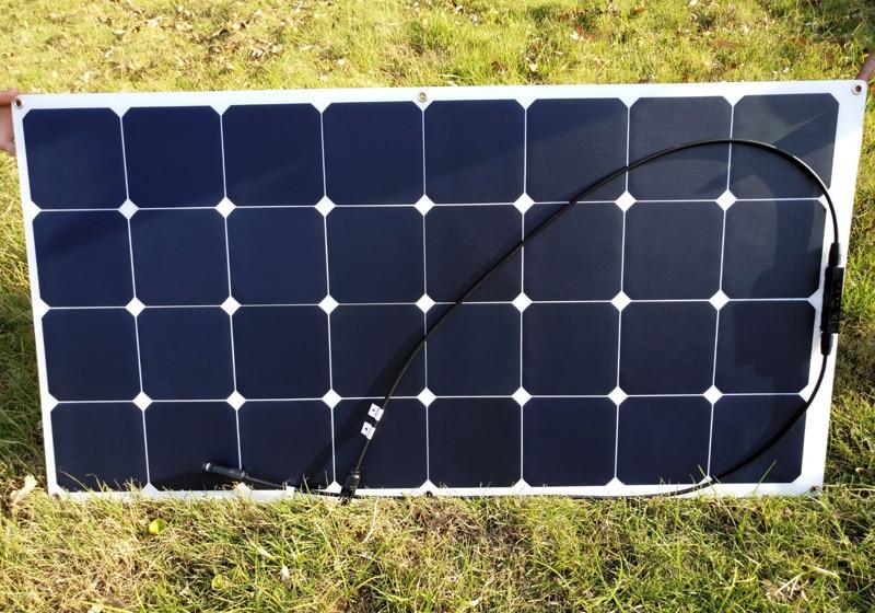 Sunpower flexible solar panel 12v 100w; monocrystalline semi flexible solar panel 100w; solar cell 21% charging efficiency mxsolar 145w high efficiendy bendable flexible solar panel a grade sunpower cell