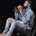 Kpop coreano flaco ripped Pantalones de Hip Hop de Moda fresca Para Hombre urbano mono ropa vaqueros de Los Hombres de yeezy de kanye west slp temor de dios