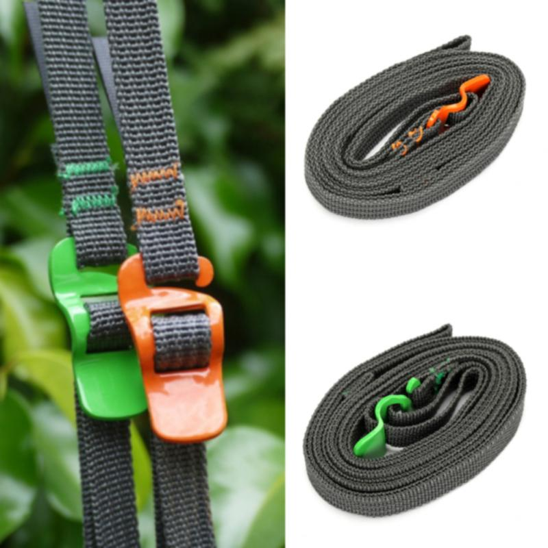 2 Pcs 250CM Load 125kg Durable Nylon Cargo Tie Down Luggage Lash Belt Strap with Cam Buckle Travel Kits Camping luggage strap