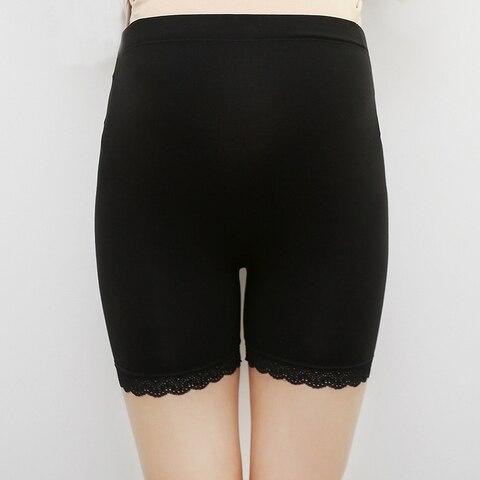 leggings gravidez shapewear maternidade alta elastica shorts cuecas calcas mae cintura rendas macio ajustavel seguranca