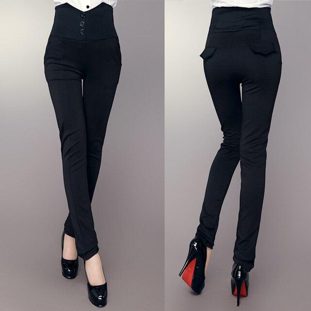 Office Pants Women Trousers High Waist 2017 Spring Autumn