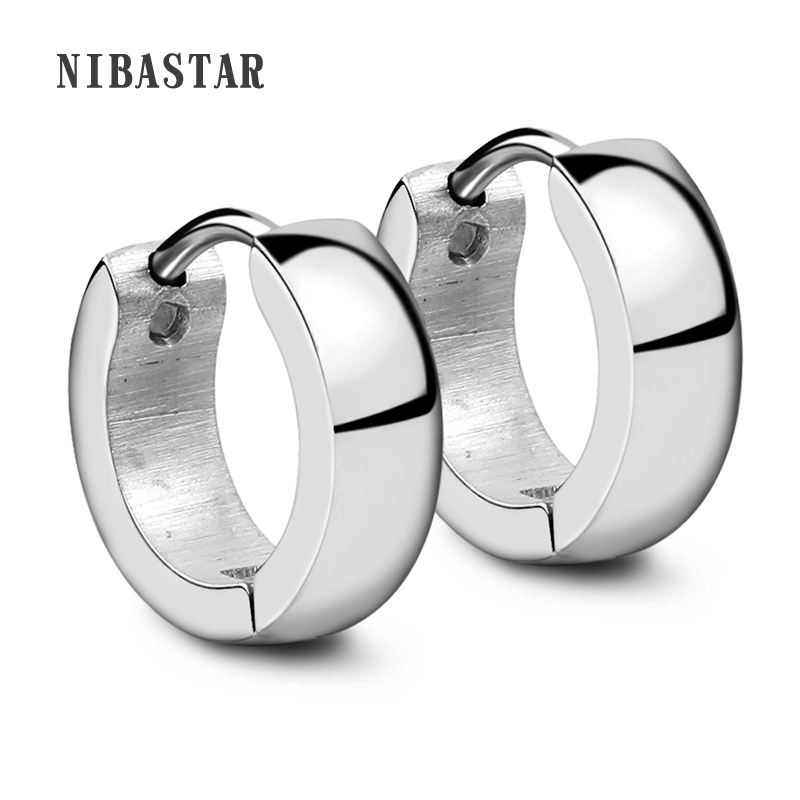 Punk Gold Stainless Steel Hoop Earrings Simple Style Circle Hoop Earring Fashion Earrings for Women Man Jewelry