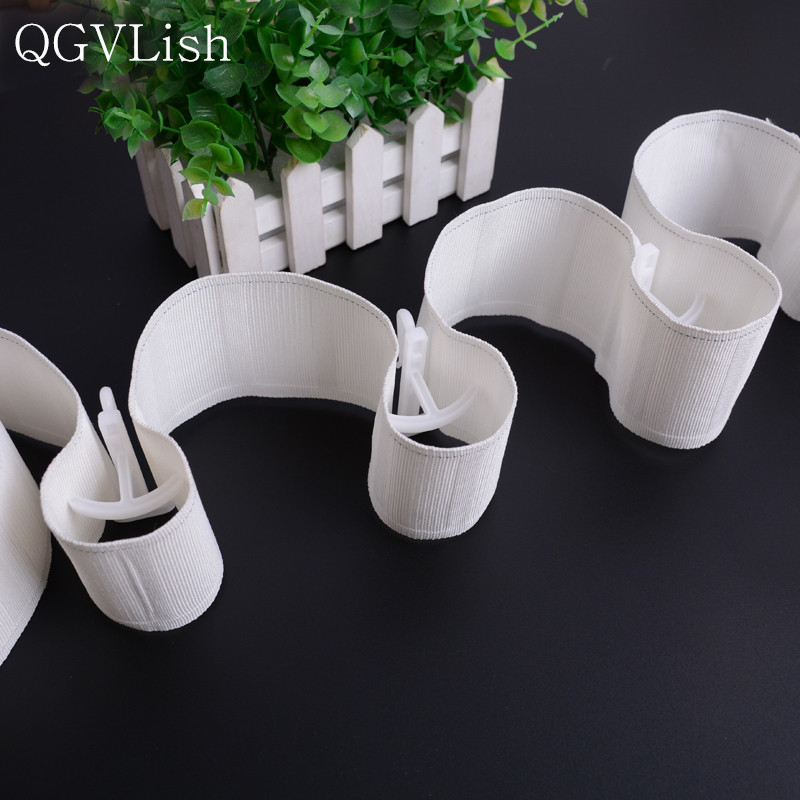 QGVLish Plastic White 7cm Curtain Hanging Hooks Tie Ring For Poles Curtain Accessories Fitted Pleated Sheer DIY Tape Hooks DecorQGVLish Plastic White 7cm Curtain Hanging Hooks Tie Ring For Poles Curtain Accessories Fitted Pleated Sheer DIY Tape Hooks Decor