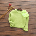 2016 new autumn and winter foreign three - dimensional butterfly knit sweater children 's bat sleeves for babys girls
