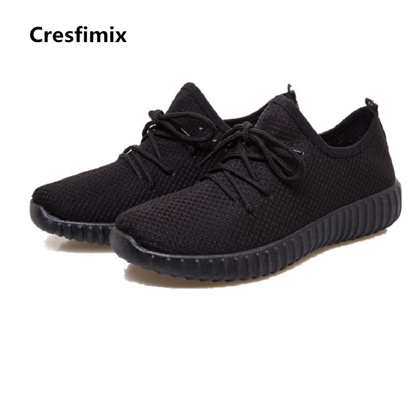 Cresfimix women plus size casual shoes female soft & comfortable outdoor lace up shoes lady leisure black & red shoes zapatos cresfimix women cute black floral lace up shoes female soft and comfortable spring shoes lady cool summer flat shoes zapatos