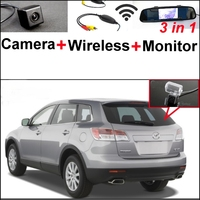 3 In1 Special Camera Wireless Receiver Mirror Monitor EASY DIY Back Up Parking System For Mazda