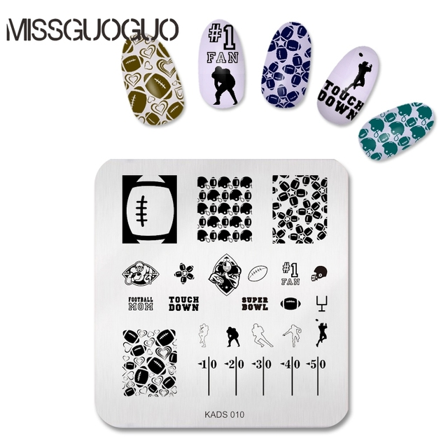 Aliexpress Buy Rugby Sports Style Stamp Nail Art Players
