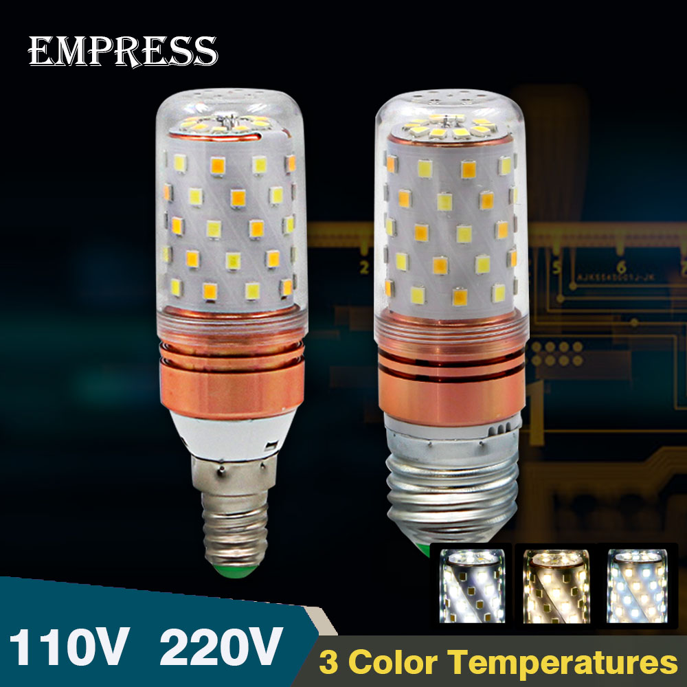 Bright Bombillas led lamp E27 E14 110V 220V SMD 2835 led energy saving Smart lampadas LED corn bulb led lights for home lighting