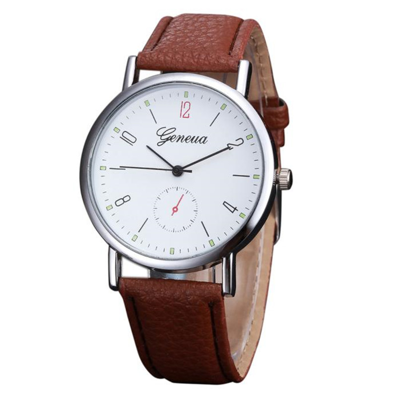 Brand Causal Womens Watch PU Leather Band Analog Hour Alloy Quartz Wrist Watch Clock For Women Ladies Girls Montre Femme цена и фото