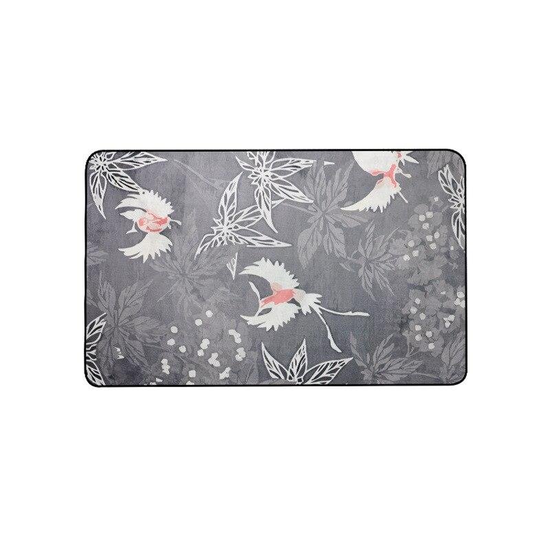 Style chinois imprimé prune tapis chambre salon chambre baie fenêtre décontracté couverture tapis antidérapant - 5