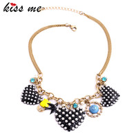 Charming Fly Bird Anchor Pearl Heart Pendants Women Necklace Fashion Jewelry Factory Wholesale